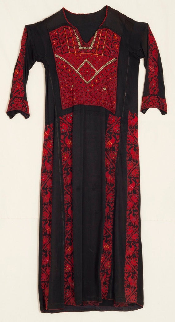 Mid 20th Century Embroidered Bedouin Gown