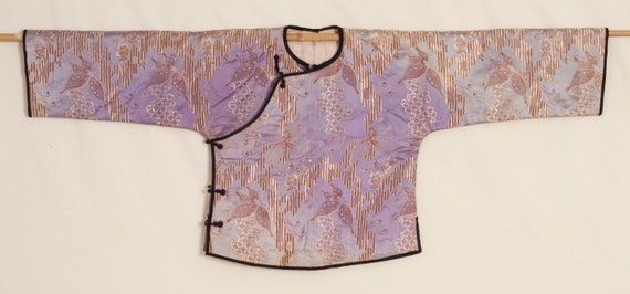 Uniquely Patterned Chinese 1930s Silk Jacket