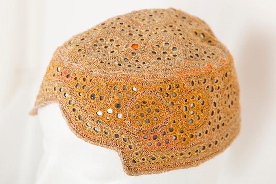 Vintage Gold Embroidered Kochi Hat