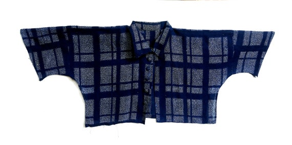 Japanese 1930s Shirt Cotton Katazome 型染め, Indigo