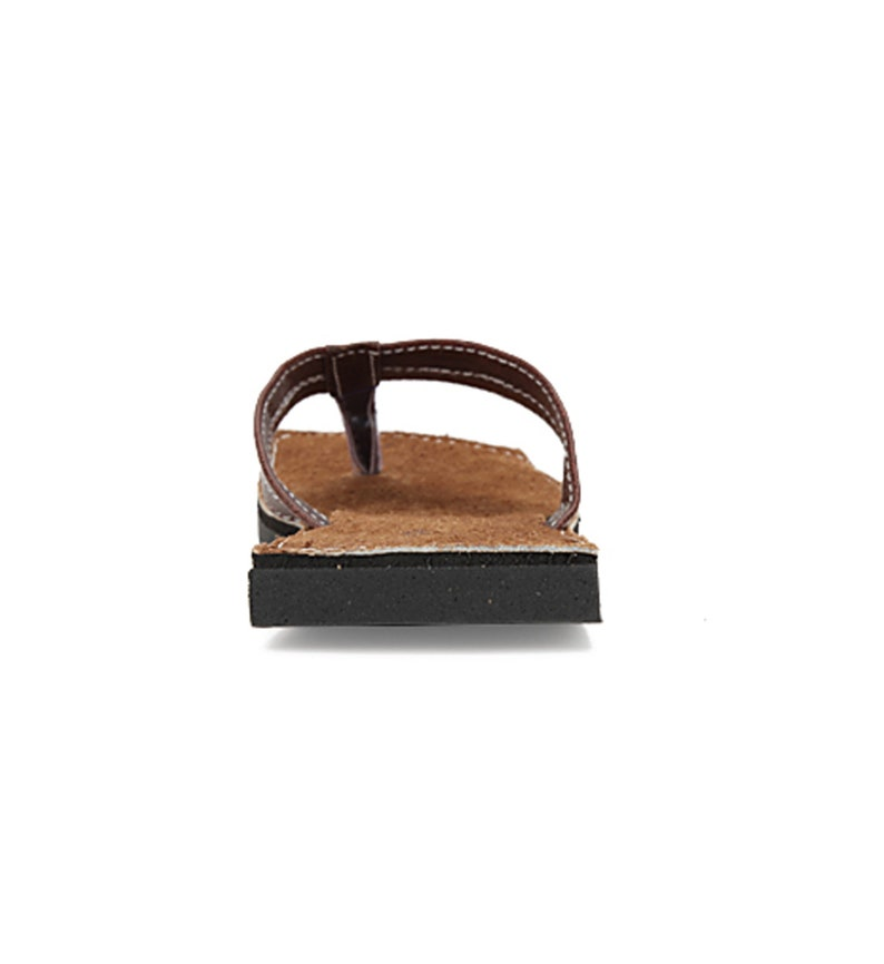 Brown suede leather flat casual sandals for Men Express Shipping Sizes 6-13 US