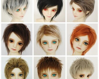 3-10inch Silicon Hair Wig Cap for 1//3 1//4 1//6 1//8 1//12 BJD Doll Head Cover HF