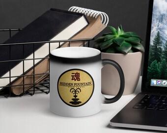 Matte Black Hidden Fountain Magic Mug