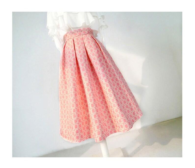 Custom Made Office Skirt A-line Skirt Autumn Skirt Spring Skirt Puff Skirt Umbrella Skirt Vintage Skirt Winter Skirt Maxi Skirt