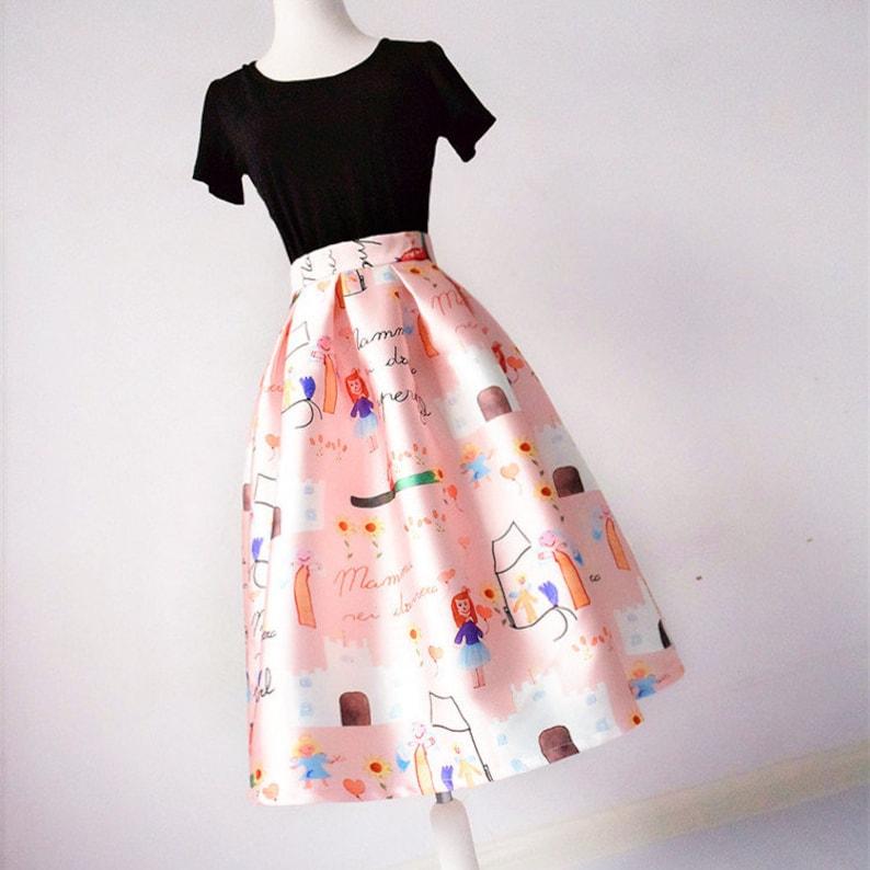 Maxi Skirt Custom Made Umbrella Skirt Casual Skirt Vintage Skirt Ladies Skirts A-line Skirt Puff Skirt Party Skirt Office Skirt