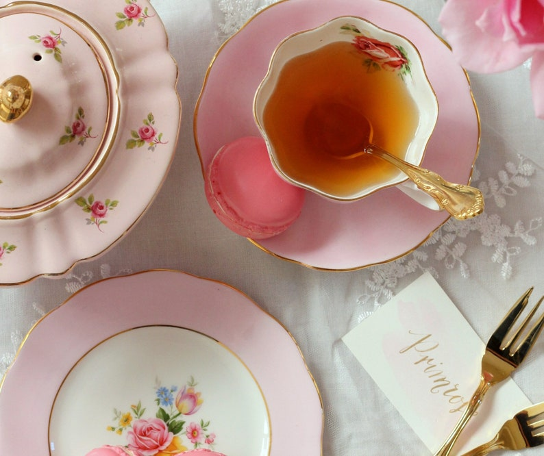 Mix and Match China Vintage Mismatched Teacups and Saucers