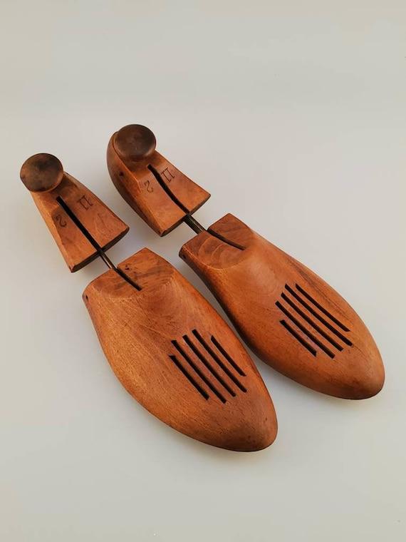 Wood Shoe Form Rustic Farmhouse Pair Antique Shoe Trees
