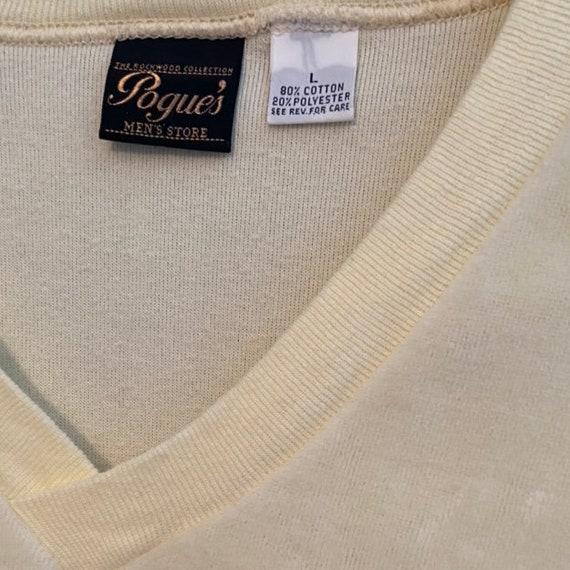 Vintage Velour Mens Shirt 70s 80s Deep V Neck Vel… - image 3