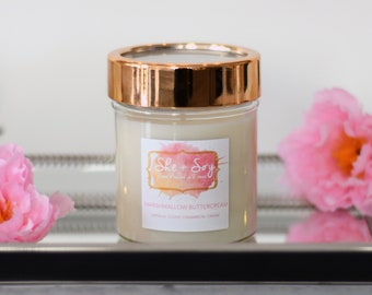 Marshmallow Buttercream 100% Soy Hand Poured Candle 10 oz