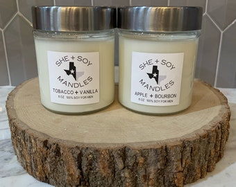 Mandles 100% Soy Wax Hand Poured Candles for Men