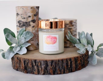 Apple + Bourbon 100% Soy Hand Poured Candle 10 oz