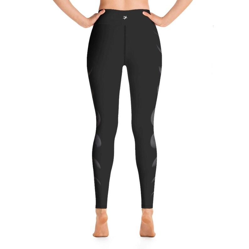 yoga leggings yoga tights yoga leggings women yoga pants moon leggings unique leggings High Waist Moon Phase Yoga Leggings