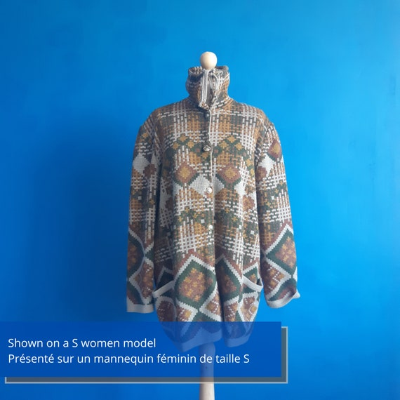 Beautiful french vintage unisex wool and acrylic w