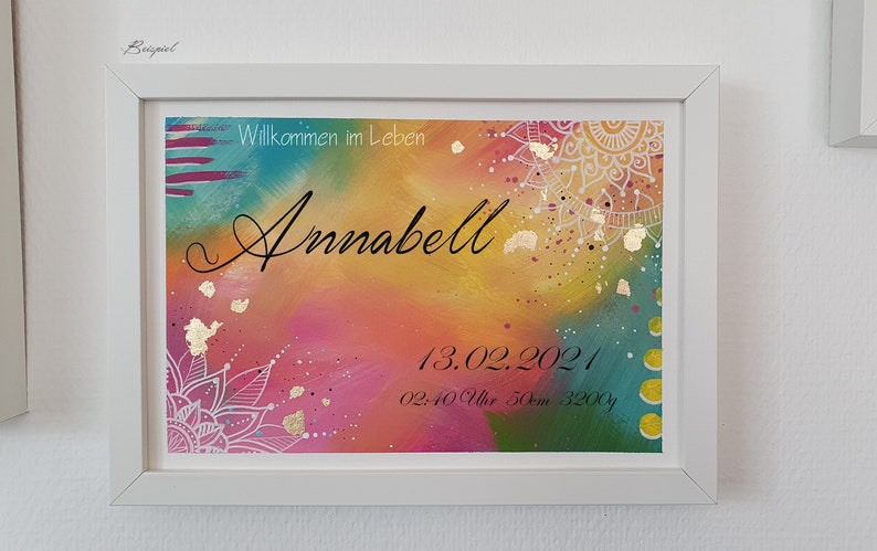 handmade picture nursery series gold/candy image 1