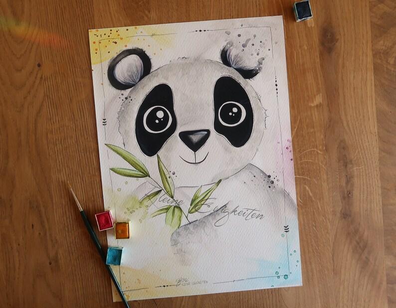 PREMIUM Art Print Panda image 1