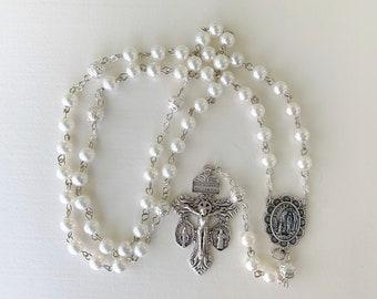 8MM Pearl Handmade Rosary