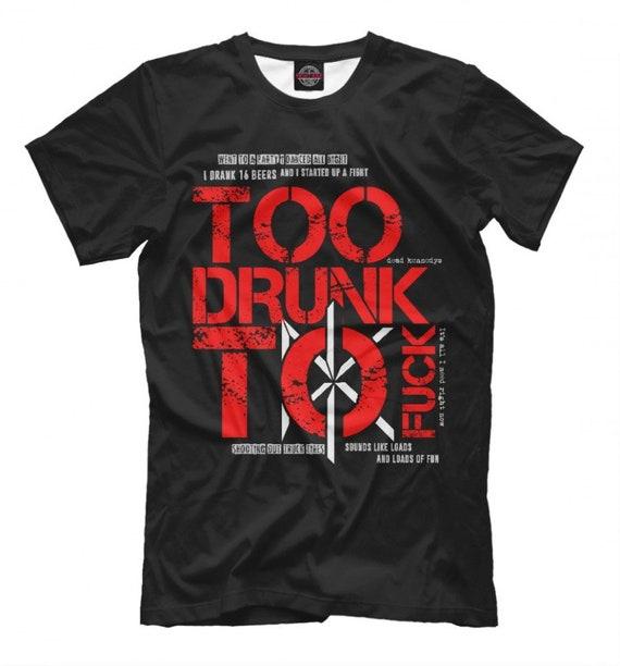 Dead Kennedys DK Too Drunk to Fuck Metal T-Shirt, Men's Women's All Sizes