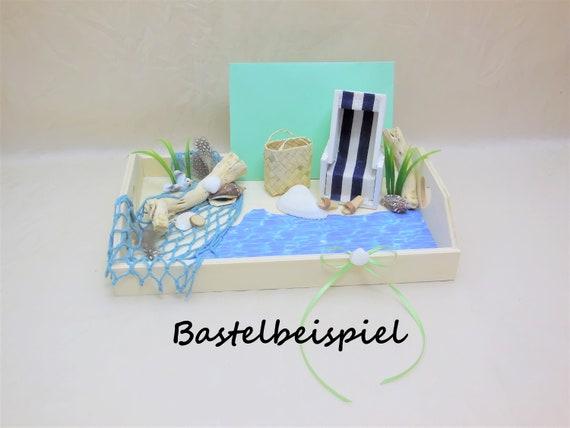 Strandkorb Zum Basteln Für Geldgeschenk Oder Gutschein Reise Ruhestand Miniatur Ostsee Wellnessgutschein Reisegeld Deko Maritim Rente