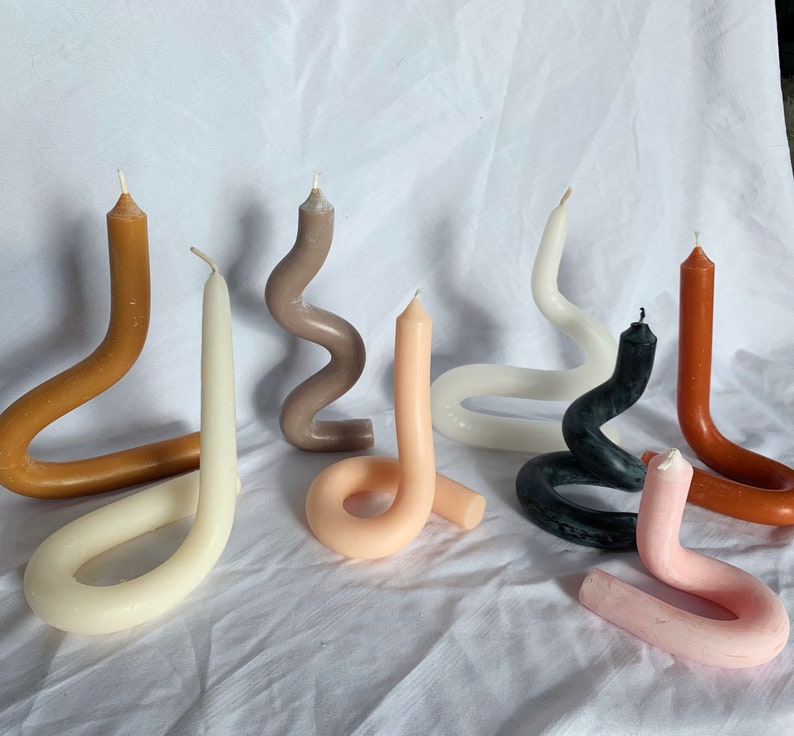 Twisted Candle Decor Gifts for Her Funky Candles Decorative image 0