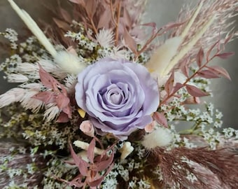 Dried flowers small bouquet for birthday, gift, eternal rose