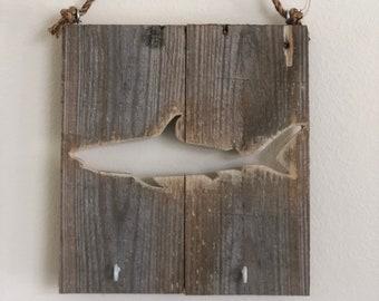 Hand Carved Shark Neckerchief Slide