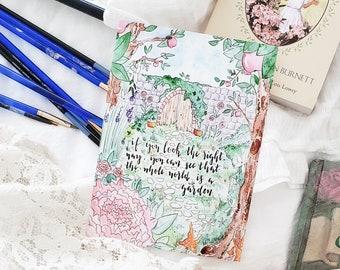 The Secret Garden, Secret Garden Print, Secret Garden Giclee, Frances Hodgson Burnett Print