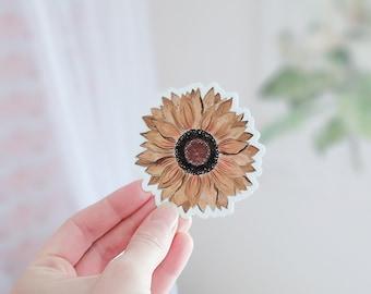 Sunflower Sticker, Sunflower Decal, Vinyl Decal Sticker, Flowers, Sunflowers, Flower Stickers, Flower Decals