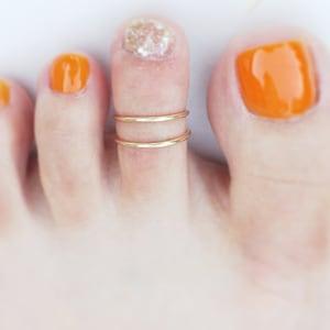 1mm Thin Thin Toe Ring Gold toe ring Plain Toe Ring Gold Filled Minimalist Toe Ring Larger Size 6 Adjustable Toe Ring 14K