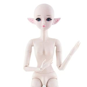 New 60cm 21 Movable Joints Elf Bjd Dolls Toy Blue Black 3D
