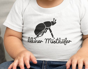"""Cute Baby Tee, """"kleiner Mistkäfer, for little adventurers and young insect friends - PREORDER"""