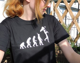 Evolution shirt with bug collector, oversized t-shirt or nerdy shirt dress, butterfly shirt