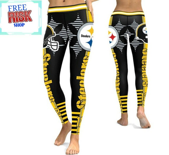Pittsburgh Steelers Women's Leggings Size Small to 2X-Large High Quality Sports Mem, Cards & Fan Shop