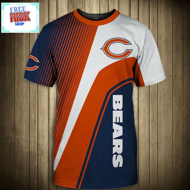 new york db8b0 35bfe New Chicago Bears NFL Football T-Shirt Athletic Team