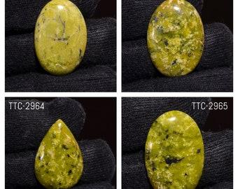 Lizardite natural stone cabochon  45 x 30 x 7 mm