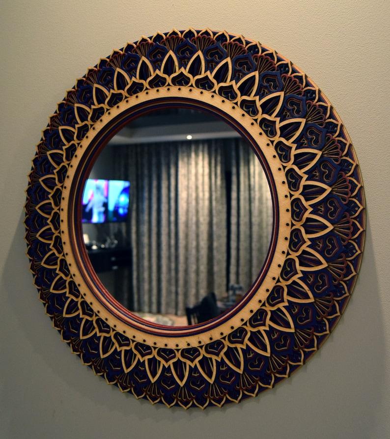 Round Wall Mirror Decorative Mirror Modern Hanging Circle Etsy
