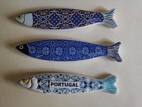Sardinha em Cer\u00e2mica Ceramic Portuguese Sardine MAGNETIC Free Shipping