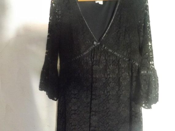 vintage black LACE BABYDOLL DRESS