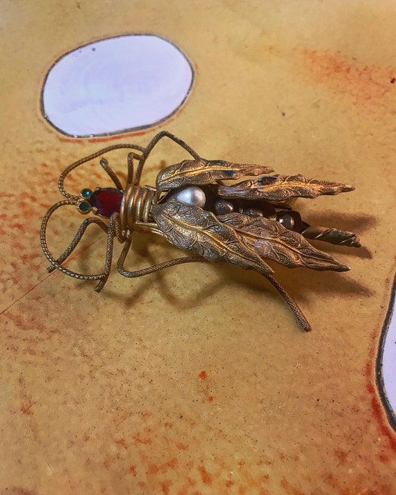 Art Deco 30s Insect Bug Brooch