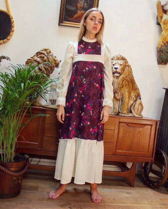 60s maxi boho dress