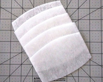 Filters for Face Masks - 3 1/4 inch by 5 inch - Small MERV13 Filters for Children and Small Masks - Fiberglass FREE - Reusable Filters