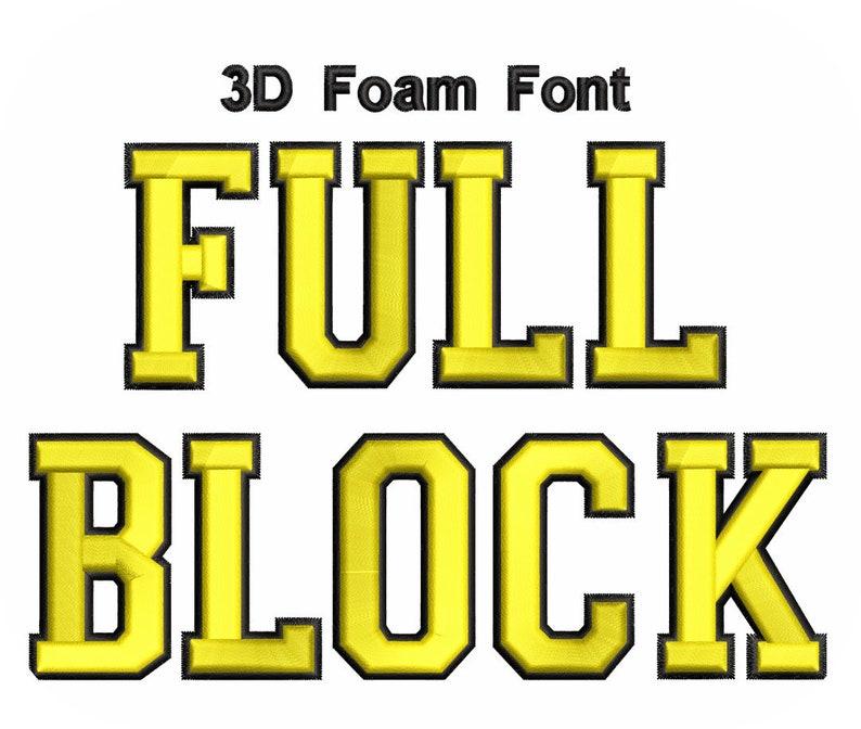 Download 3D Foam Font Full Block 2 Color Value Pack | Etsy