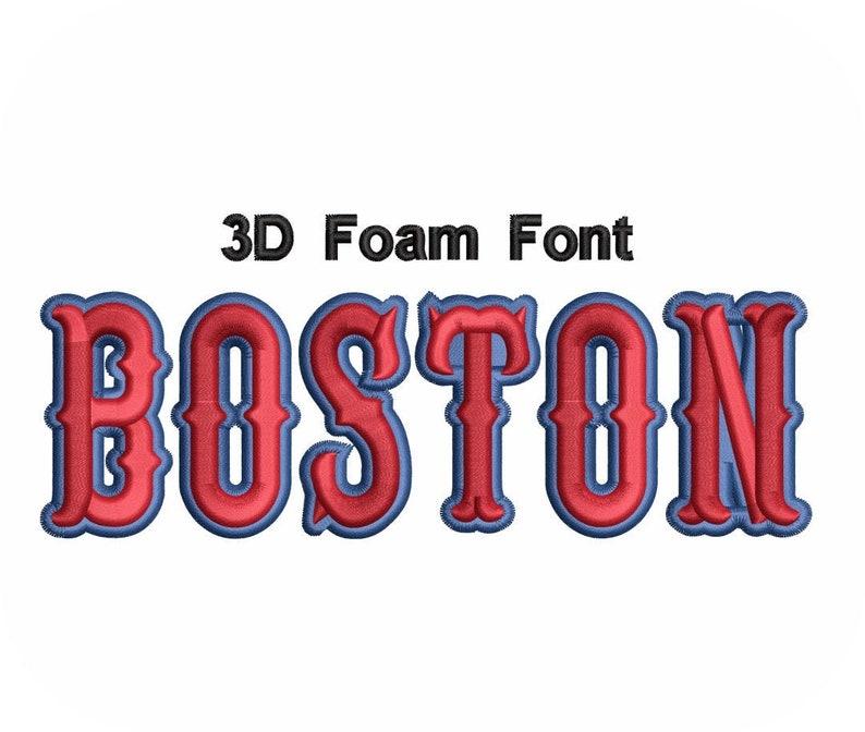 Download 3D Foam Font Boston Value Pack | Etsy