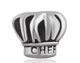 100/% Argent Sterling 925 Chef Chapeau cuisson cuisine Bracelet Charm Bijoux