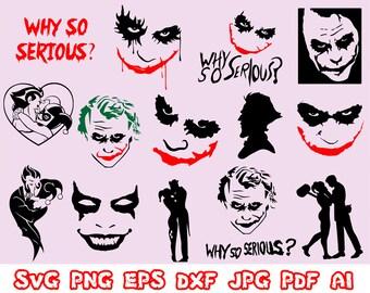 Joker Svg Etsy