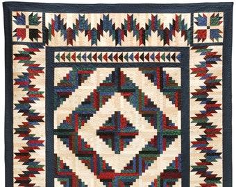 Bear Mountain Cabin Quilt Pattern - Printed Pattern