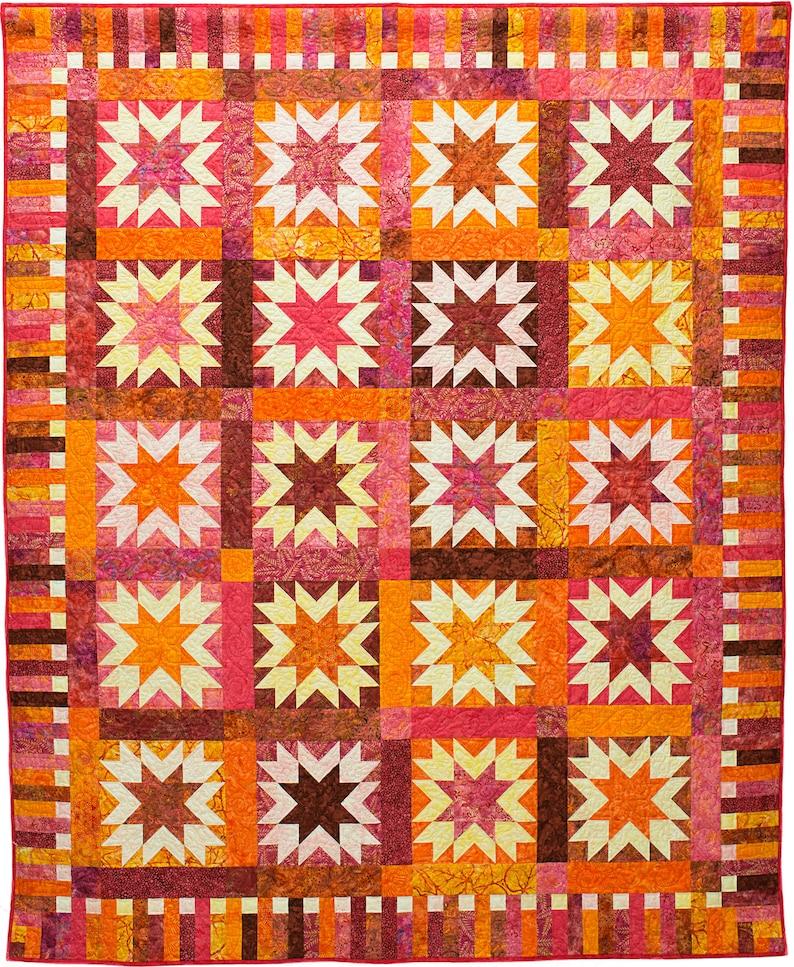 Sunburst Quilt Pattern PDF image 0