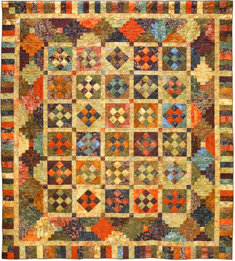 Nifty Nine-Patches Quilt Pattern PDF image 0