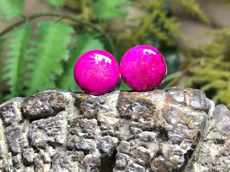 11mm Handmade In California Glitter Pink Galaxy Double Flared Acrylic Plugs -Cali Creatures Plug Size 716th