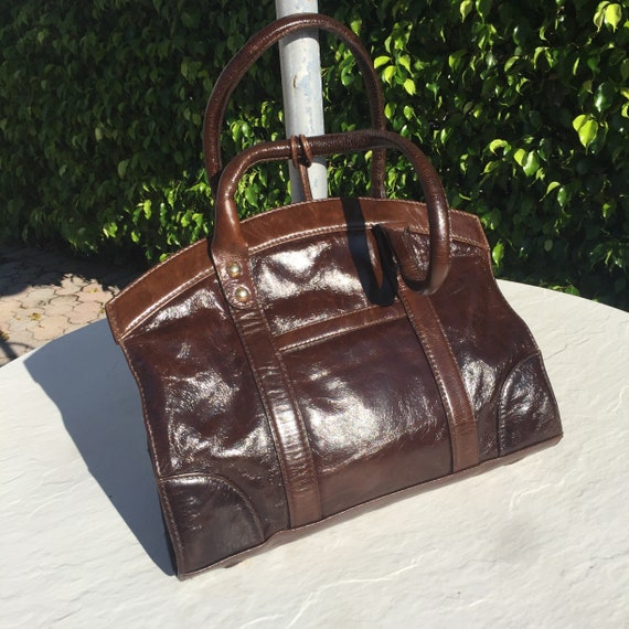Vintage Made in Italy Mocha Brown Hand Bag