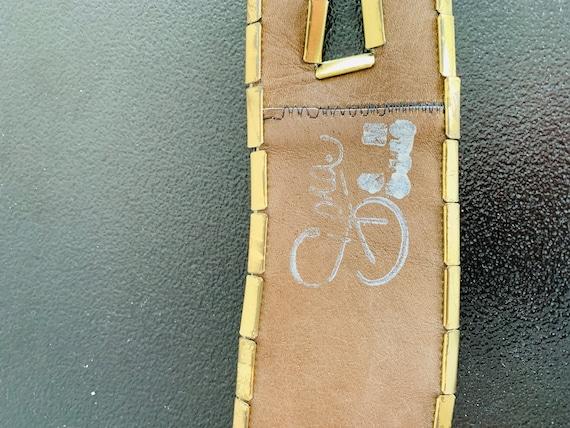 Sophia Women's Belt Gold metal/genuine leather be… - image 3